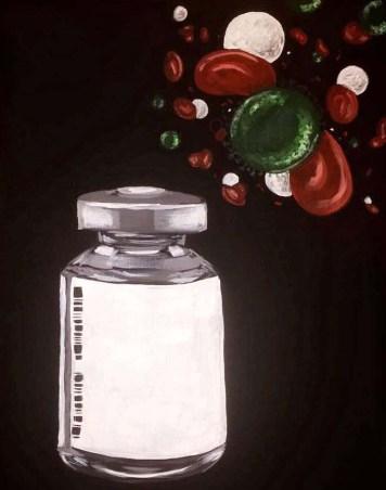 Flu Vaccine - 18x24 Acrylic on Canvas
