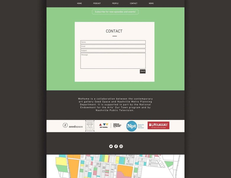 WeHome contact page