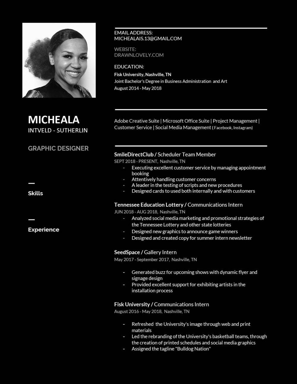 inverted resume